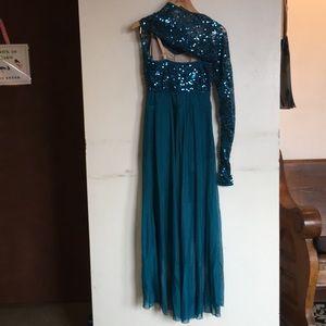 balera Costumes - BRAND NEW!! Balera Dark Teal Dance Costume